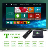 Vendedor superior 4K 2.4G Android 6.0 WiFi TV Box