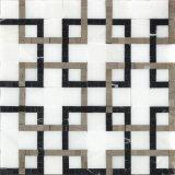 インテリア・デザインのための複雑な正方形の自然な大理石のモザイク