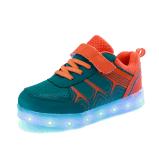 Малыши СИД освещают ботинки USB цветастые перезаряжаемые низкие верхние