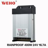 Rainproof 24V 400W de puissance de LED pour éclairage d'alimentation de projet (WFY-400-24)