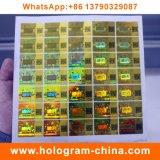 Qr 부호 인쇄를 가진 안전 반대로 가짜 홀로그램 스티커