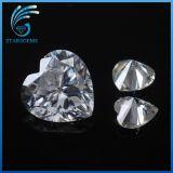 판매를 위한 8X8mm 백색 색깔 Vvs 명확성 심혼 커트 1.5cts Moissanite 돌
