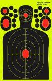 La salpicadura reactiva de la blanco del papel del Shooting de la silueta repartió amarillo fluorescente