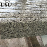 Pedra de imitação de quartzo do granito cinzento Polished para a parte superior