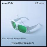 630 - 660nm O. D3+& 800 - 830nm O. D 3+& 900 - 1100nm O. D5+ Óculos de protecção ocular de Laserpair