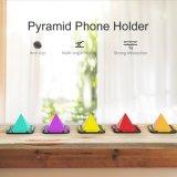 Seiten-Pyramide-Telefon-Halter-Standplatz-Halter des Silikon-4 für Handy-Antibeleg