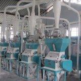 Maquinaria do moinho de farinha do milho da pequena escala que funciona em África