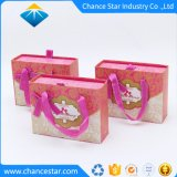 Custom Cardboard Paper Wedding Candy Box with Handle Curry