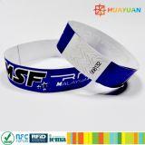 Wristband disponible de NTAG213 NFC TYVEK para el boleto del parque temático