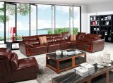 African grand coin salon en cuir véritable Chape de l'un canapé-SBL-9156