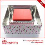 Envase del rectángulo del estaño del chocolate de la galleta de la categoría alimenticia con diversa talla
