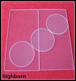 Alto disco libero di funzionamento di vetro di quarzo di temperatura di figura rotonda