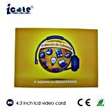 4.3 Tarjeta de felicitación de Vídeo LCD/Video/LCD de pantalla LCD Folleto Folleto de vídeo de la publicidad, regalo, la educación