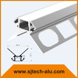 コーナーの外の乾式壁のためのLEDのプロフィールの引込められたプラスターフランジの穴と使用する