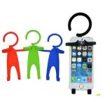 Flexible de silicona celular titular, titular de la telefonía celular colgantes, titular del teléfono móvil de carga