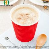 Taza de papel roja de la pared triple para llevar/taza de café caliente