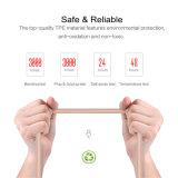 TPE de alta qualidade Wholesales trançado revestido transparente cabo de dados USB para o Android