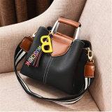 Провод фиолетового цвета кожи женщин верхней части ручки сумки Satchel сумки дамы сумки через плечо