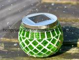 Il cambiamento solare di vetro di colore di indicatori luminosi del giardino della sfera di vetro del mosaico dell'indicatore luminoso della Tabella crea esterno impermeabile senza fili/dell'interno Romance
