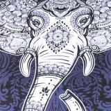 De Vastgestelde Polyester van het Beddegoed van de Druk van de olifant