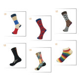 Los hombres colorido patrón ronda feliz Sock calcetín vestido