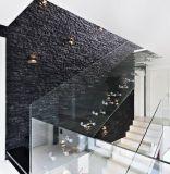 De moderne Drijvende Trap van het Glas van het Ontwerp Rechte met het Loopvlak van de Treden van het Glas Lamiated