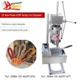 Marcação ce 5 Moldes de tamanho comercial Churros fazendo a máquina com churros fritadeira eléctrica Maker