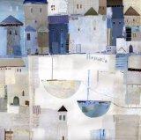 Het hete Met de hand gemaakte Abstracte Olieverfschilderij Cityville van de Verkoop