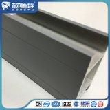 Kundenspezifisches graue Beschichtung-Aluminiumprofil des Puder-6063 T5 für Fenster-Tür