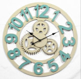 Horloge de mur en bois de grande de qualité d'antiquité forme de vitesse