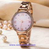 日本水晶動き(WY-17002)の工場供給の女性ステンレス鋼の腕時計