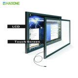 Panneau interactif de moniteur d'écran de visualisation de contact d'affichage à cristaux liquides de 55 pouces DEL