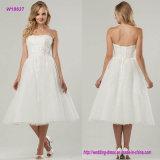 Платье венчания Ча-Длины отличает Ruched лифом и симпатичным воздушный верхним слоем Tulle