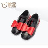 Il quadrato elastico del più nuovo arco di modo dei bambini grande tallona la principessa Shoes delle ragazze