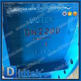 Válvula de mariposa de gran tamaño de la ventilación Dn2200 de Didtek con el actuador eléctrico