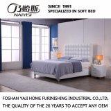 Кровать кожи мебели спальни конструкции двойной кровати способа самомоднейшая (G7011)