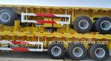 무거운 기계 수송을%s 반 3개의 차축 평상형 트레일러 트레일러