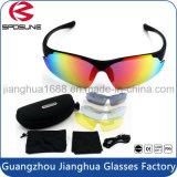 Rígido superior inastillable de los vidrios de Sun de la seguridad del deporte Anti-Rasguña la lente permutable que completa un ciclo conduciendo las gafas de sol