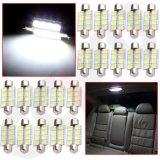 차내등 LED 전구 - 31mm-36mm -39mm- 8SMD - 2835, 12V 의 매우 밝은 빛, C5w 6411 6413의 내부 램프 전구 빨간 파란 백색 분홍색 담청색