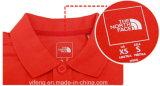 Le cou à l'intérieur de la taille des autocollants de la poitrine Impression de logo pour les vêtements des étiquettes de soins