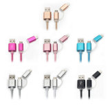 2 in 1 5V 2A USB-Daten-Kabel für iPhone Android
