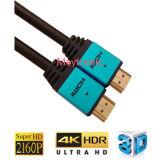 고속 V2.0 금에 의하여 도금되는 플러그 남성 남성 HDMI 케이블