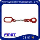 Un'imbragatura a catena del piedino con l'amo del cavallotto di maglia di connessione G80