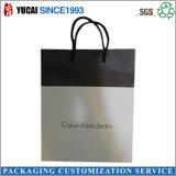 Bolso de compras negro modificado para requisitos particulares del papel del bolso de la cartulina