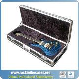 Fuerte Caja de la guitarra de visualización personalizada de vuelo con inserto de espuma