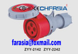 4p 6h IP67 16A Cee / IEC PP / PA impermeável conector industrial