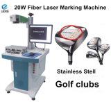 Máquina de la marca del laser de la fibra de la fuente de laser de Raycus para la caja del teléfono celular