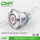 CMP Geen Schakelaar van de Drukknop van de anti-Vandaal Nc (28mm, Roestvrij staal, TUV Ce)