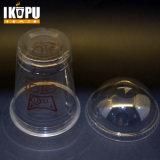 ふたが付いている12ozペット使い捨て可能なプラスチックコップを、自由なデザイン個人化するロゴ、ジュースのプラスチックコップを卸し売りする