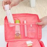 Manija resistente al agua de lujo en varios compartimentos con cremallera de nylon bolsa de cosméticos maquillaje viajes